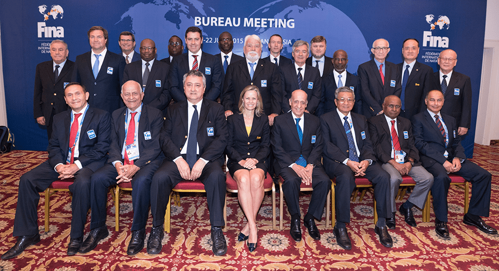 Encontro do Conselho Executivo da Federação Internacional de Natação. Crédito: Reprodução/FINA