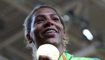 RIO DE JANEIRO 08/08/2016 – JUDï FEMININO – ARENA CARIOCA 2 – PARQUE OLêMPICO – A brasileira Rafaela Silva conquista a medalha de ouro na categoria 57Kg. Alaor Filho/Exemplus/COB