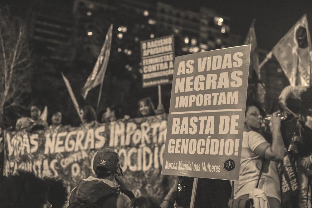 Marcha das Mulheres Negras e Indígenas de São Paulo em julho de 2017. Foto: Paulo Pinto