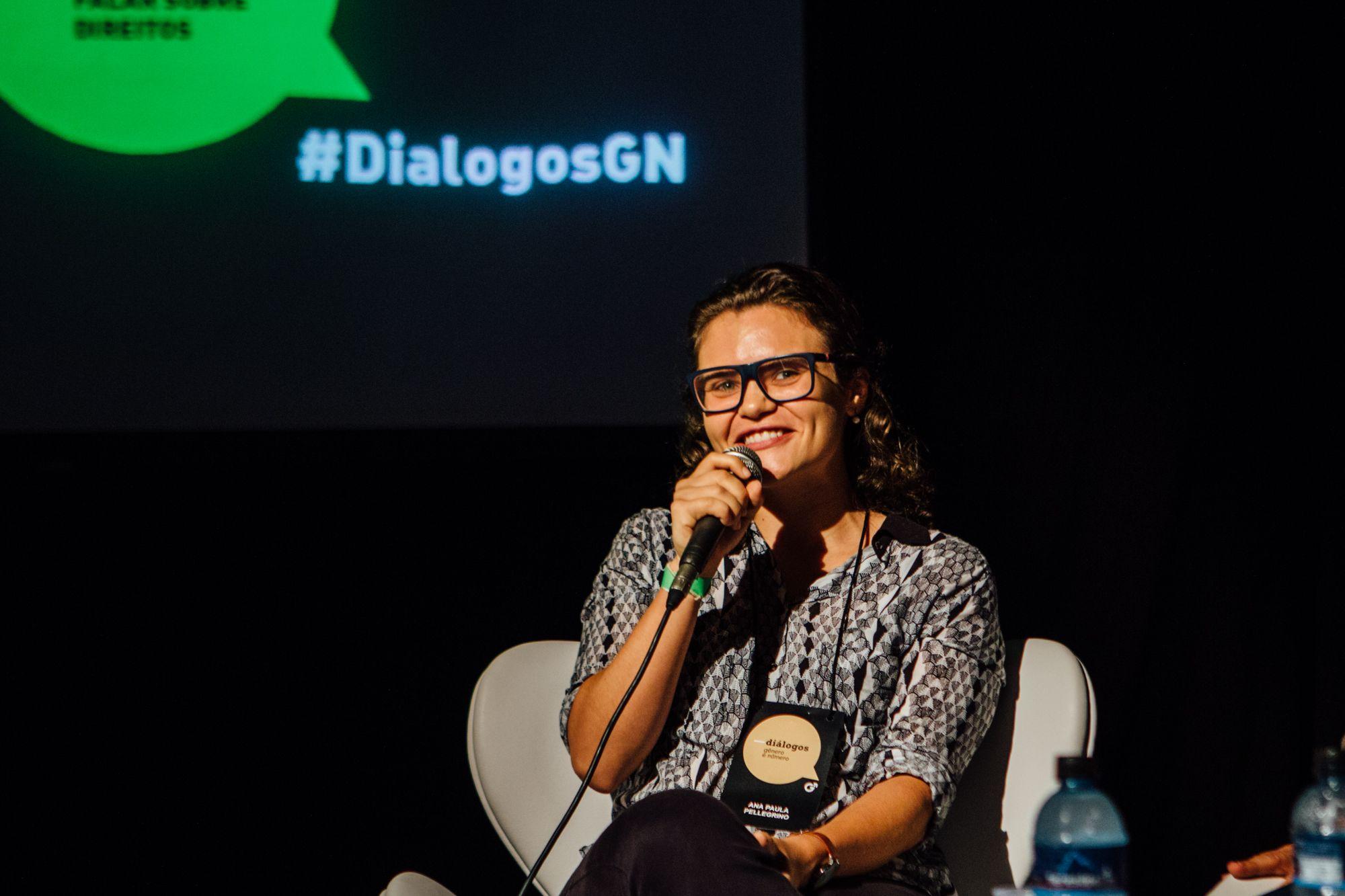 Ana Paula Pellegrino, pesquisadora do Instituto Igarapé, durante debate/ Foto: Juliana Chalita
