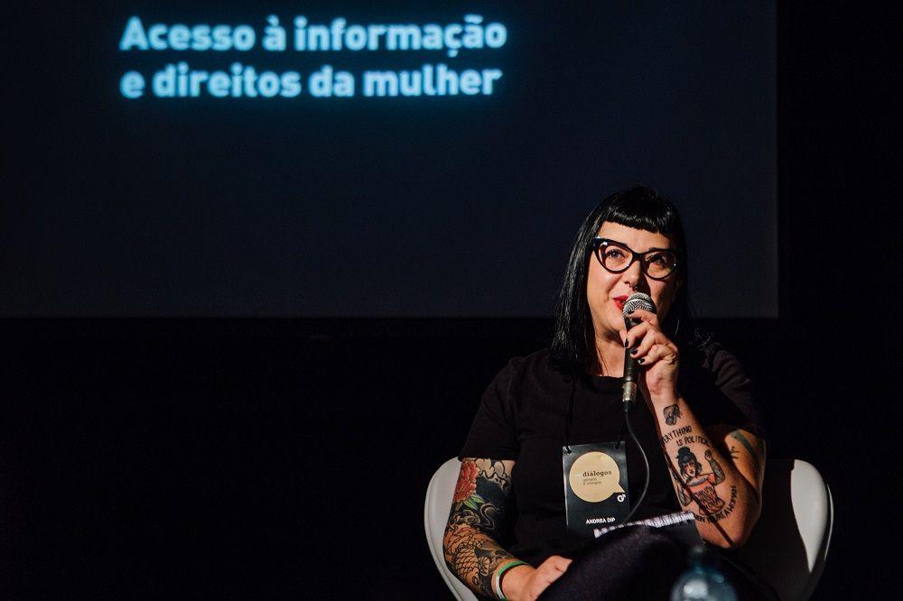 Andrea Dip, da Agência Pública. Foto: Juliana Chalita / GN