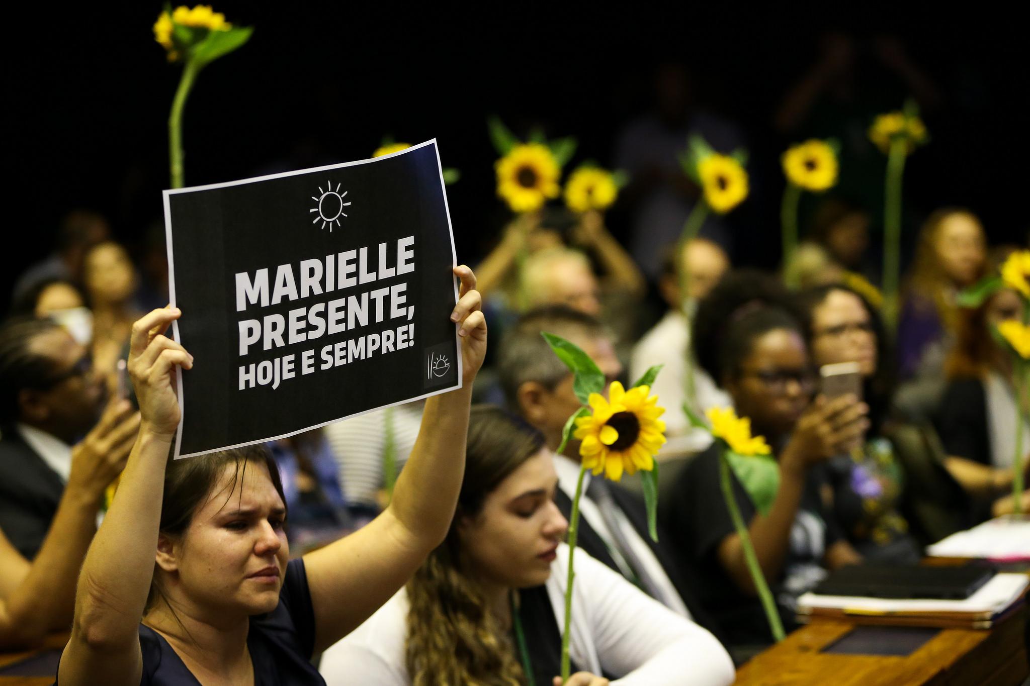 Sessão na Câmara dos Deputados em homenagem a Marielle (15/03/2018). Foto: Marcelo Camargo / Ag. Brasil