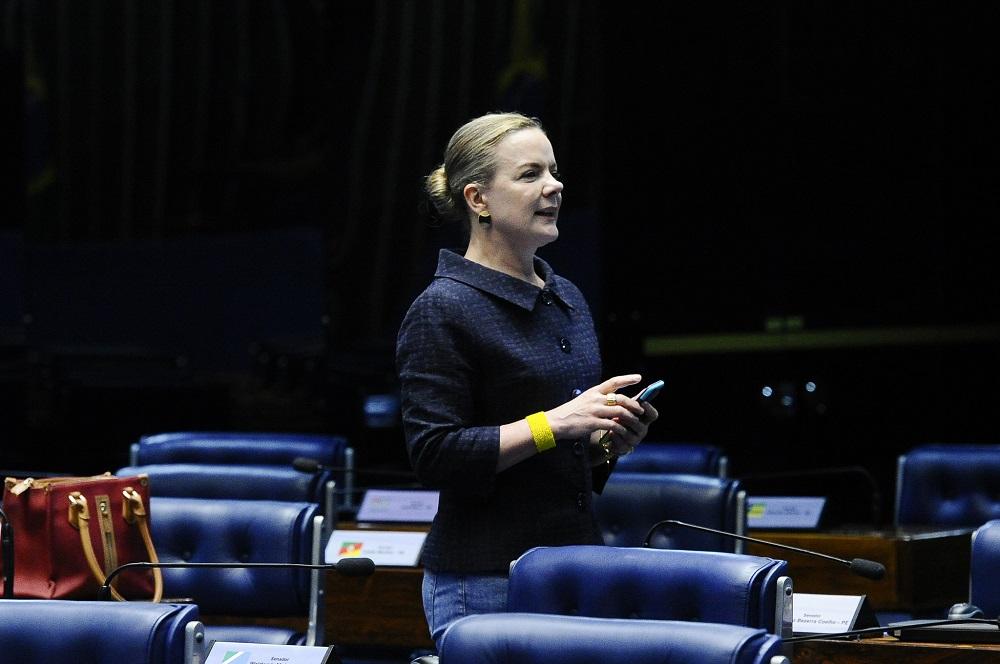 Gleisi Hoffman, senadora pelo Paraná e presidenta do PT. Foto: Geraldo Magela/Agência Senado