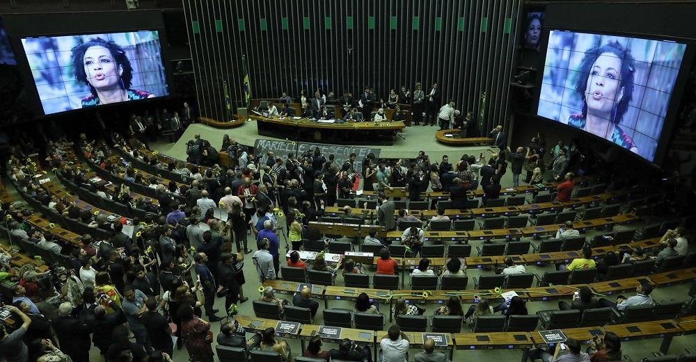 Sessão em homenagem a Marielle Franco na Câmara dos Deputados em 15/03/2018. Foto: Lula Marques