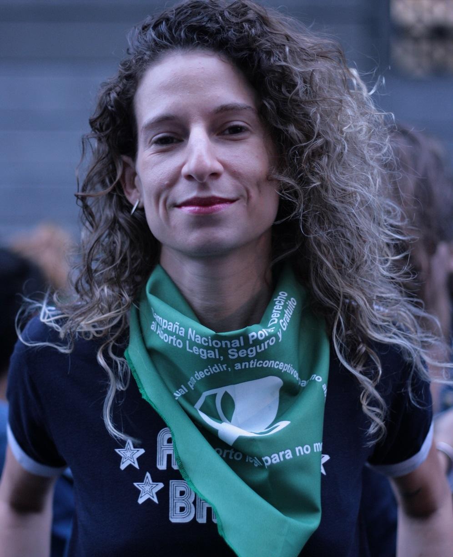 Lucila Szwarc, da Campanha Nacional pelo Direito ao Aborto (MONK Fotografía)