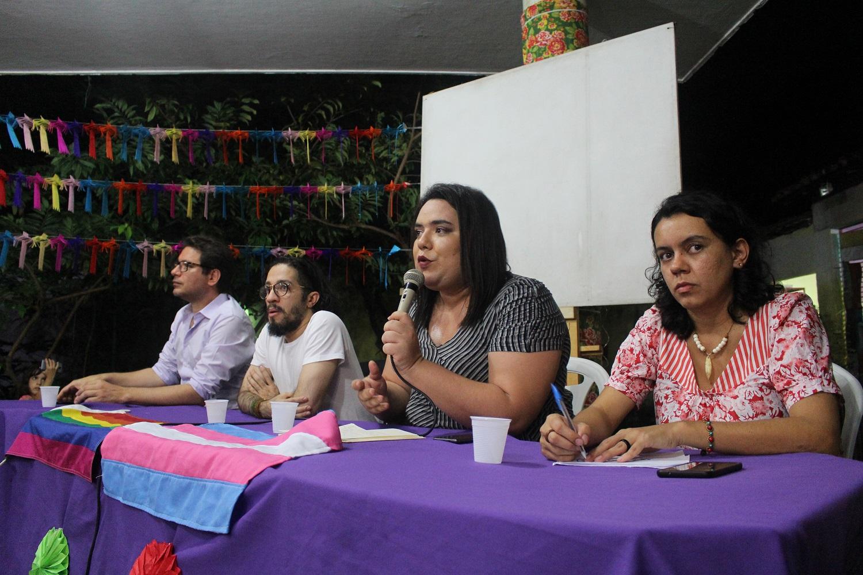 Vieira ao lado dos companheiros do PSOL Renato Roseno, Jean Wyllys e Cecília Feitosa. (Arquivo pessoal)