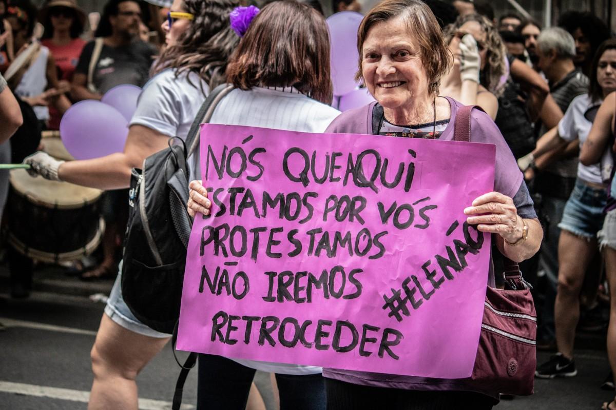 Campanha eleitoral foi marcada por protestos de mulheres contra presidente eleito. | Fotos: Luiz Rocha / Mídia NINJA / Cobertura Mulheres Contra Bolsonaro