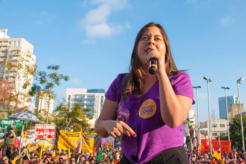 Sâmia Bomfim (PSOL/SP) será uma das cinco deputadas federais de seu partido na próxima legislatura | Foto: Divulgação