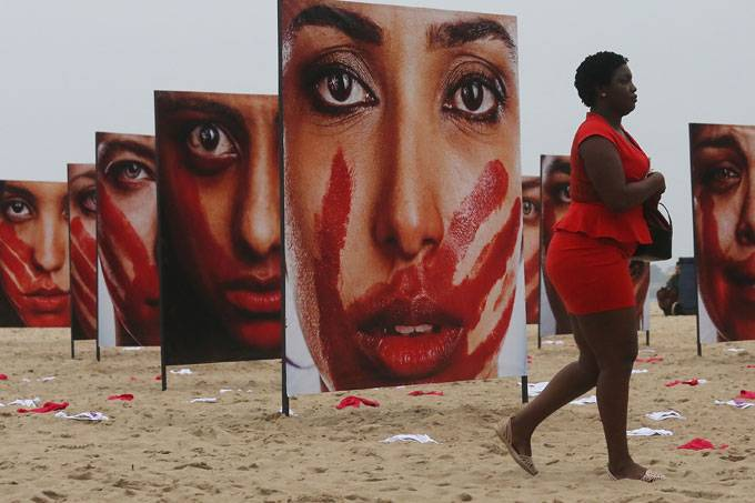 Protesto contra violência contra as mulheres no Rio de Janeiro |Foto: Getty Images