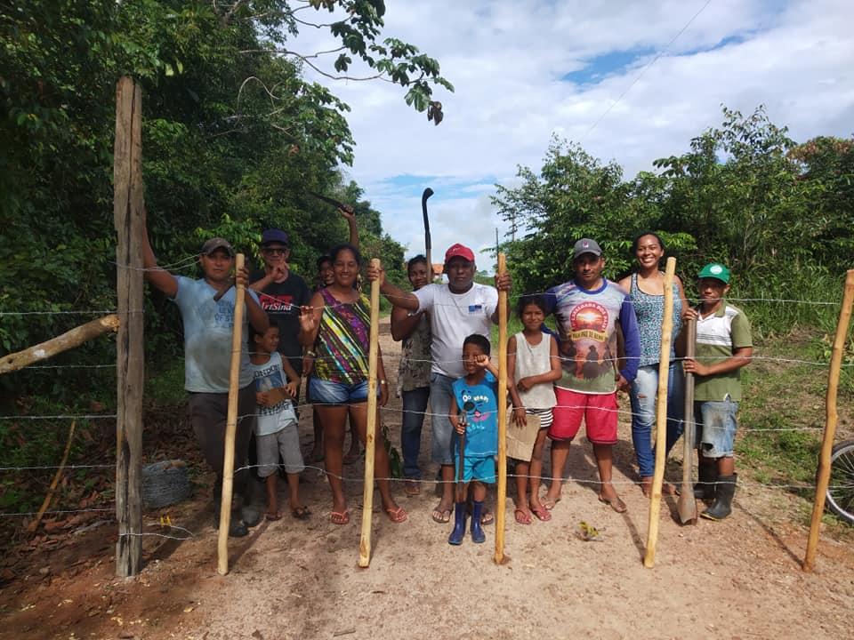 Quilombo de Jacarequara (PA) cria sua própria barreira para evitar entrada de moradores de fora | Foto: Malungu