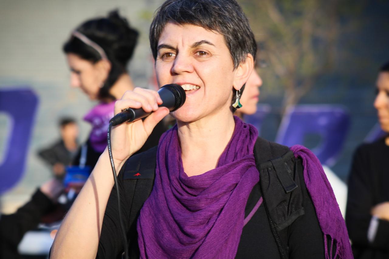 Ruth Zurbriggen, ativista de Socorristas en Red, articulação de coletivos feministas que acompanham abortos na Argentina