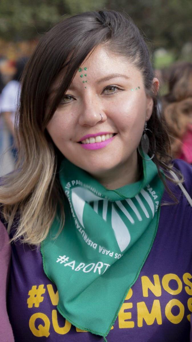 Verónica Vera, ativista de Las Comadres, no Equador