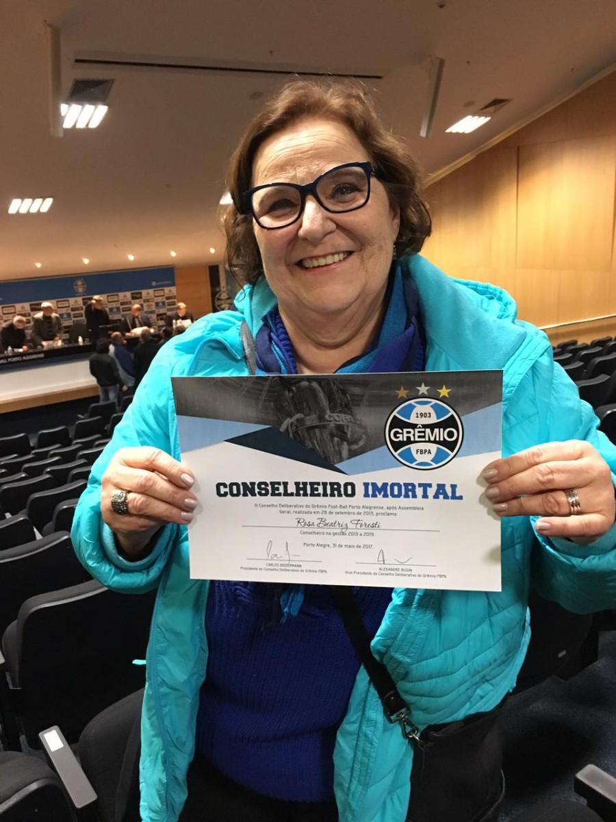 Rosa Foresti, uma das oito mulheres a integrar o Conselho do Grêmio, sendo a única na Comissão de Futebol / Foto: Arquivo Pessoal