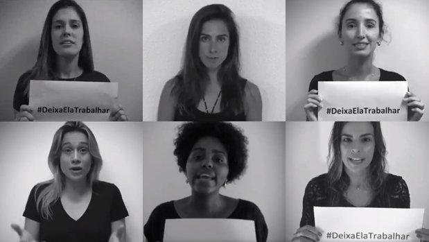 Jornalistas esportivas lançam campanha contra ataques machistas. Foto: Divulgação