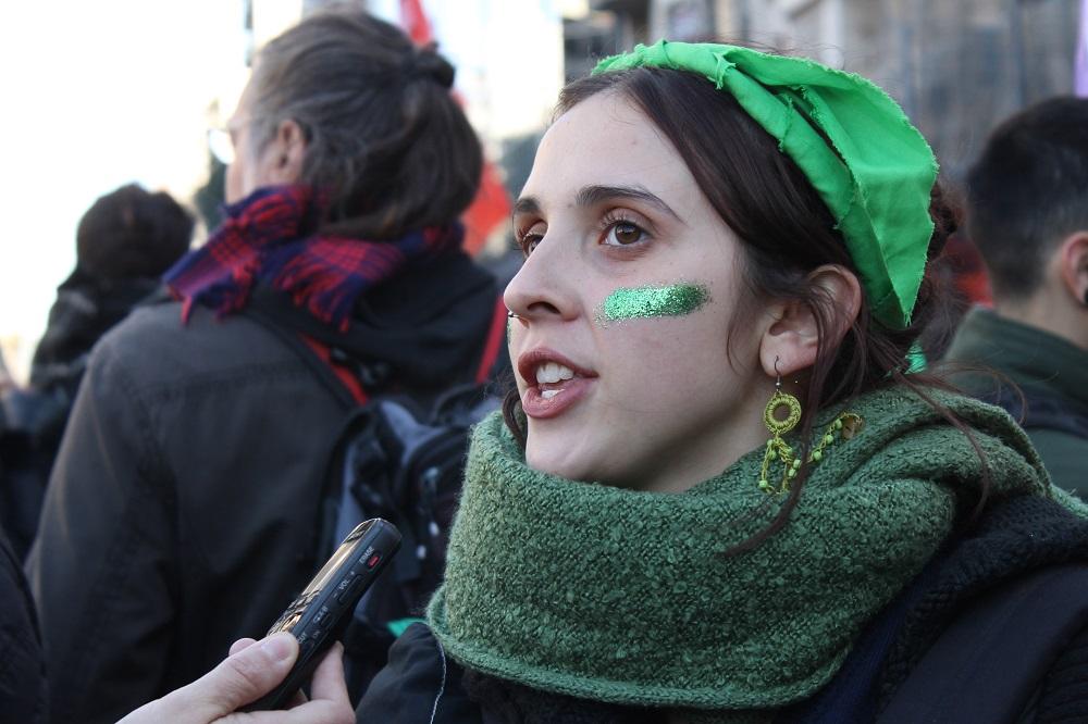 A estudante Valentina Bensadon, 17: 'Isso foi possível porque nós, mulheres, nos organizamos entre todas' (MONK Fotografía)