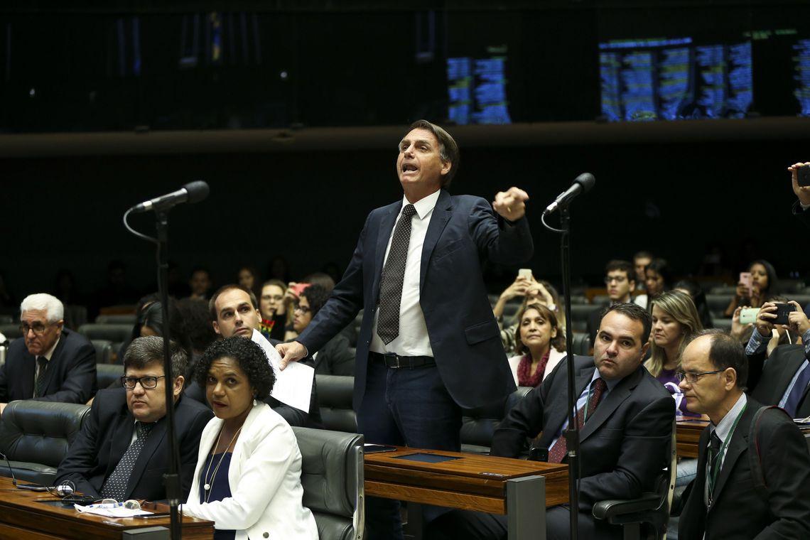 Desde 1991 no Congresso, Bolsonaro não teve qualquer projeto de segurança aprovado. Foto: Marcelo Camargo/Agência Brasil