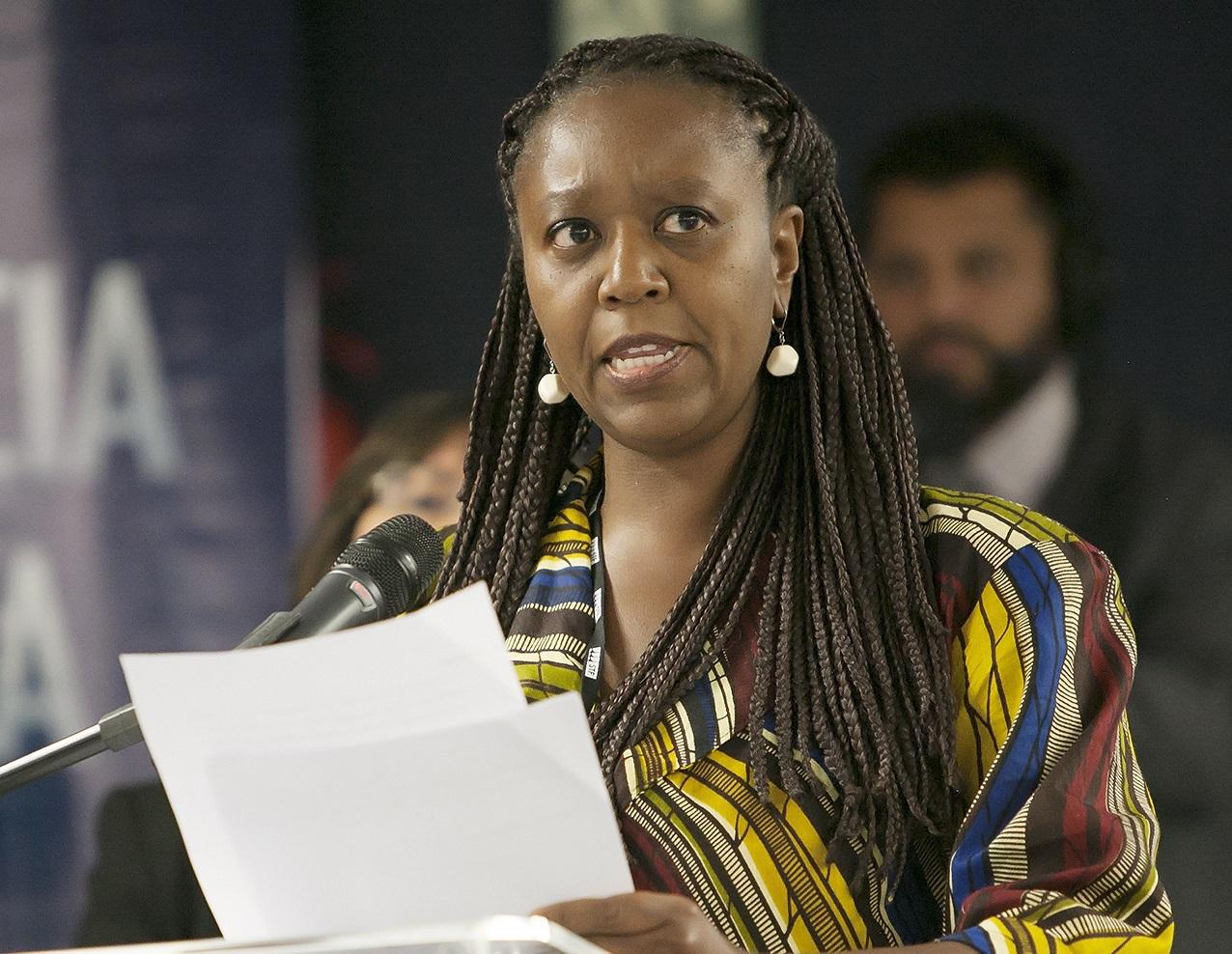 Fernanda Lopes avalia que restrição de acesso a serviços contribui para alta taxa de mortalidade materna entre pretas.   Foto: Fellipe Sampaio/SCO/STF