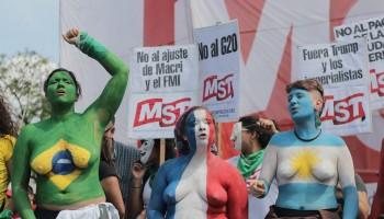 Manifestação durante a reunião do G20 em Buenos Aires, dezembro_2018 Foto_ MONK Fotografía