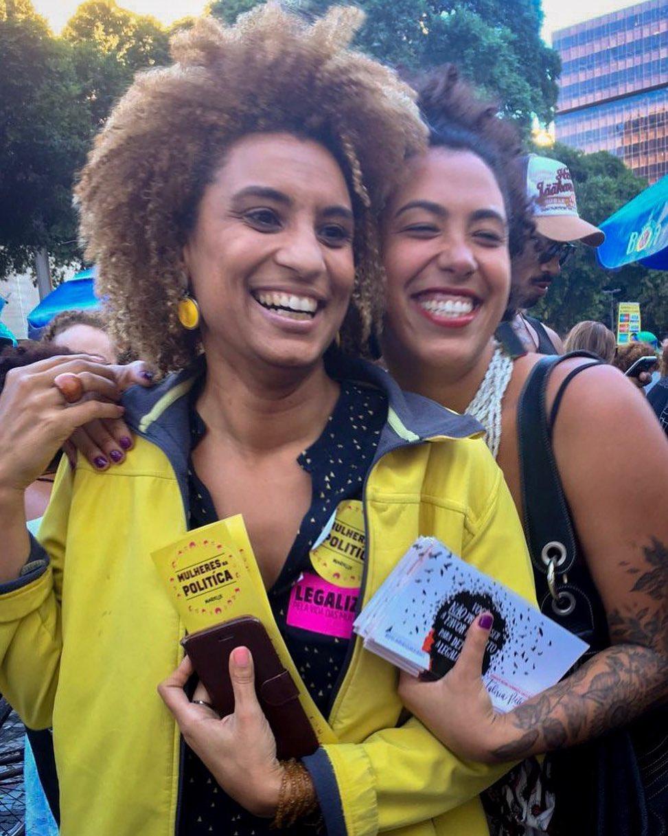 Marielle e Talíria foram eleitas em 2016. De lá até sua execução, Marielle se preocupava com a segurança da amiga e colega de partido   Foto: Arquivo pessoal
