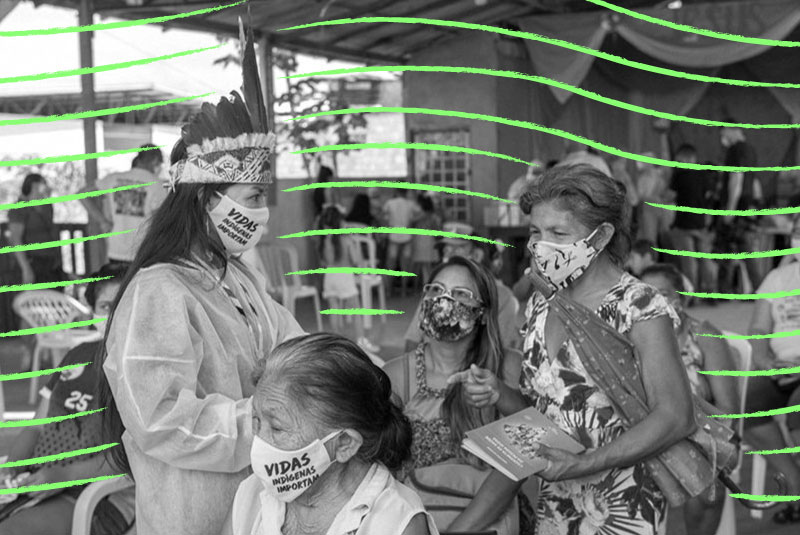 Parque das Tribos, bairro indígena em Manaus, recebeu vacinação | Foto: Alex Pazuello / Secom